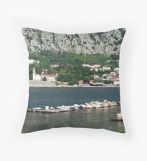Bay of Kotor - a southern fjord Throw Pillow