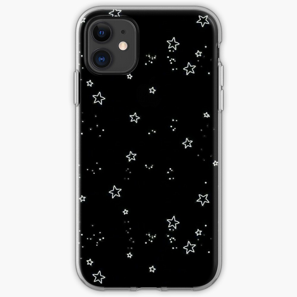 """""""aesthetic grunge teen phone case wallet black stars quote"""" iPhone Case & Cover by kaledabean"""