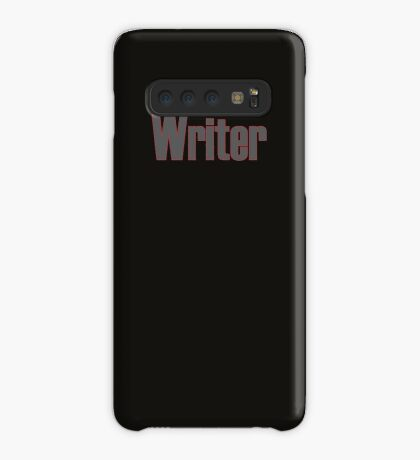Writer -- Black Text with Red Outline Case/Skin for Samsung Galaxy