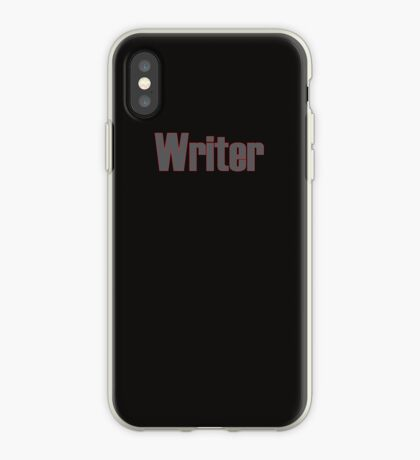 Writer -- Black Text with Red Outline iPhone Case