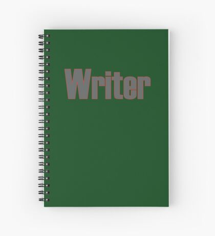 Writer -- Black Text with Red Outline Spiral Notebook