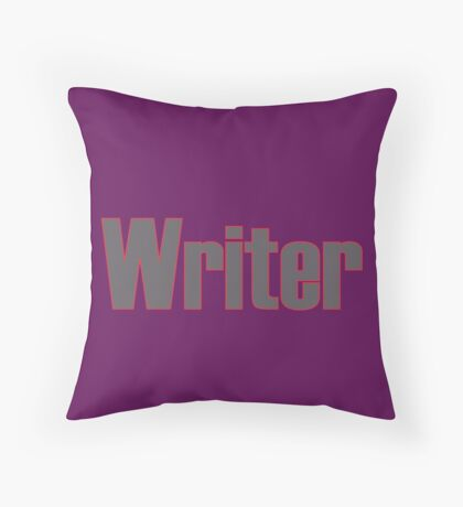 Writer -- Black Text with Red Outline Throw Pillow