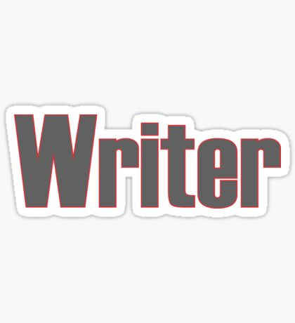 Writer -- Black Text with Red Outline Sticker