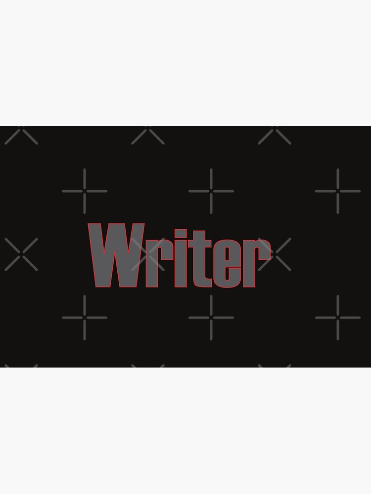 Writer -- Black Text with Red Outline by willpate
