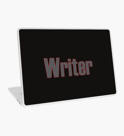 Writer -- Black Text with Red Outline Laptop Skin