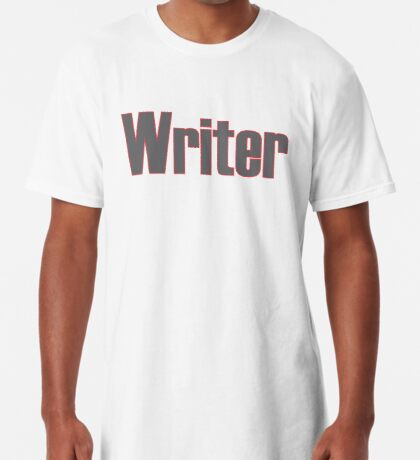 Writer -- Black Text with Red Outline Long T-Shirt