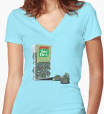 Strong mints. Women's Fitted V-Neck T-Shirt