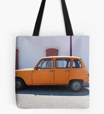 """Renault 4, """"Quatrelle"""" Orange Tote Bag"""