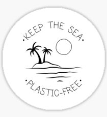 Keep the Sea Plastic-Free Sticker