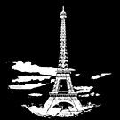 Eiffel Tower Stencil France (w) by Pentamoby