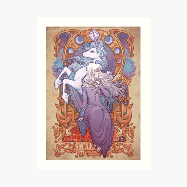 Lady Amalthea - The Last Unicorn Art Print