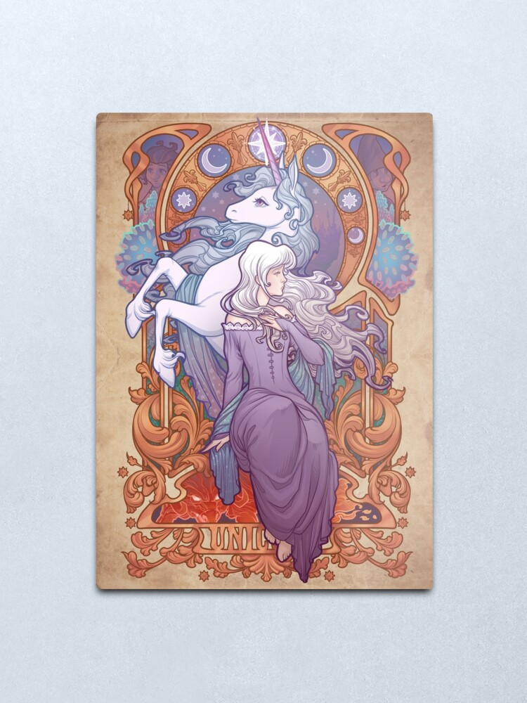 Alternate view of Lady Amalthea - The Last Unicorn Metal Print
