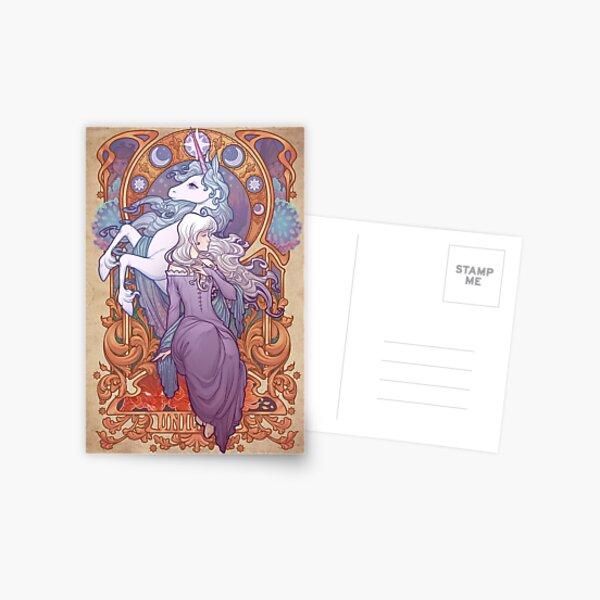 Lady Amalthea - The Last Unicorn Postcard