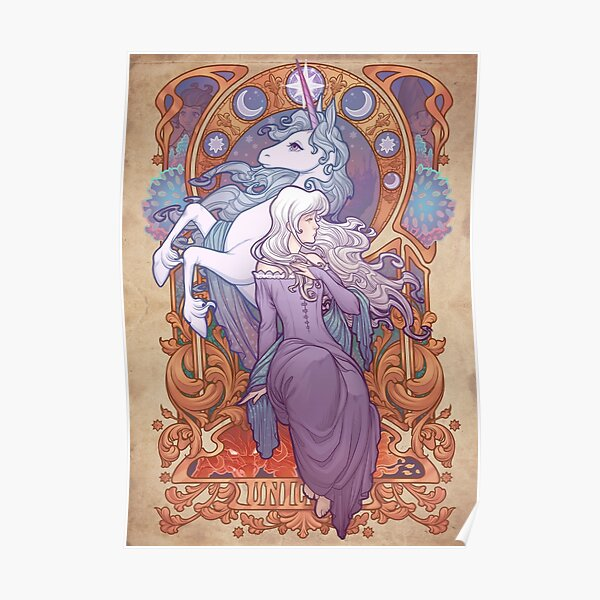 Lady Amalthea - The Last Unicorn Poster