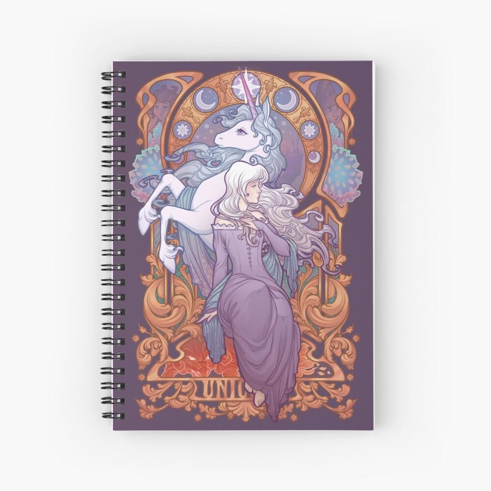 Lady Amalthea - The Last Unicorn Spiral Notebook