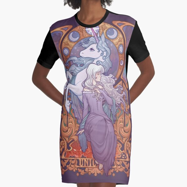 Lady Amalthea - The Last Unicorn Graphic T-Shirt Dress