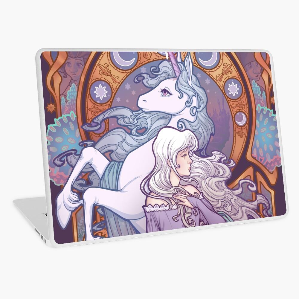 Lady Amalthea - The Last Unicorn Laptop Skin