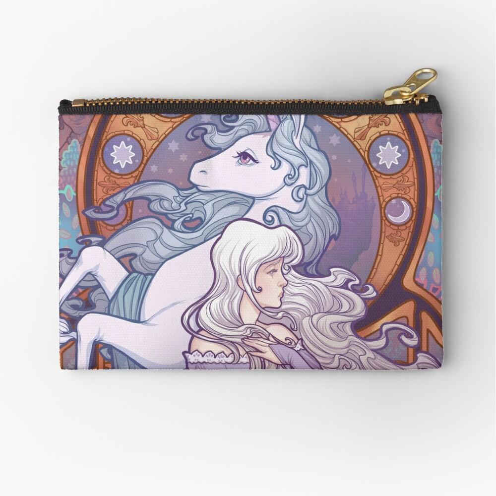 Lady Amalthea - The Last Unicorn Zipper Pouch