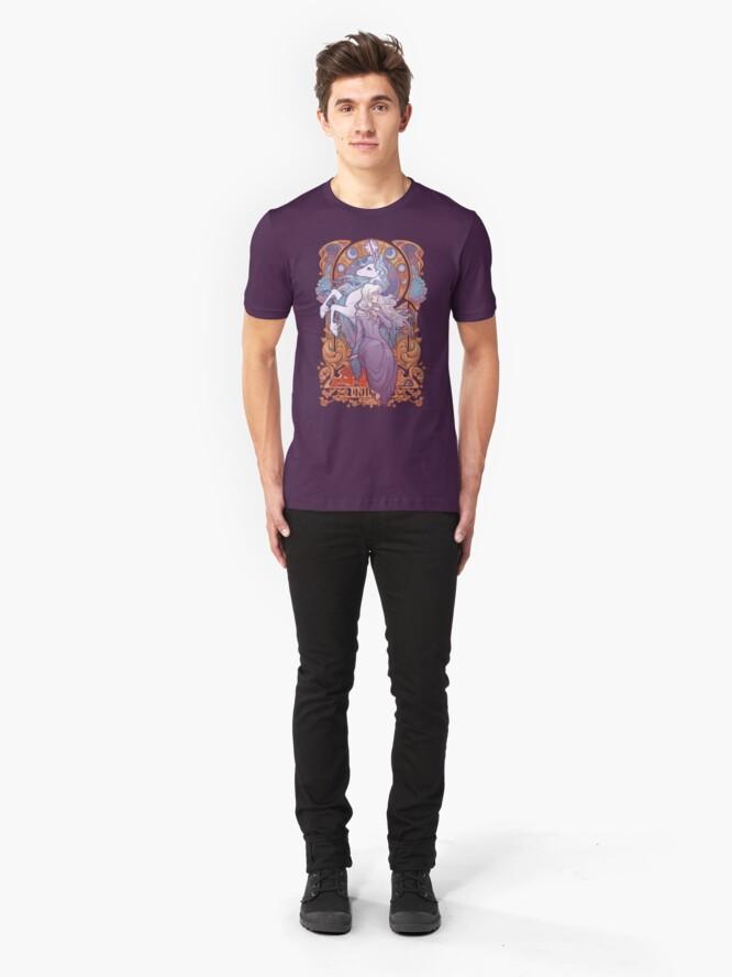 Alternate view of Lady Amalthea - The Last Unicorn Slim Fit T-Shirt