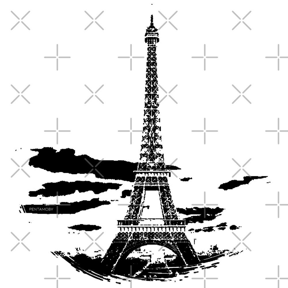 Eiffel Tower Stencil France (b) by Pentamoby
