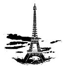 Eiffel Tower Stencil France (b) by Pentamoby