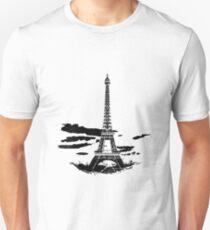 Eiffel Tower Stencil France (b) Slim Fit T-Shirt