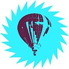 Stencil Pop Art Balloon (colored) by Pentamoby