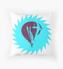 Stencil Pop Art Balloon (colored) Throw Pillow