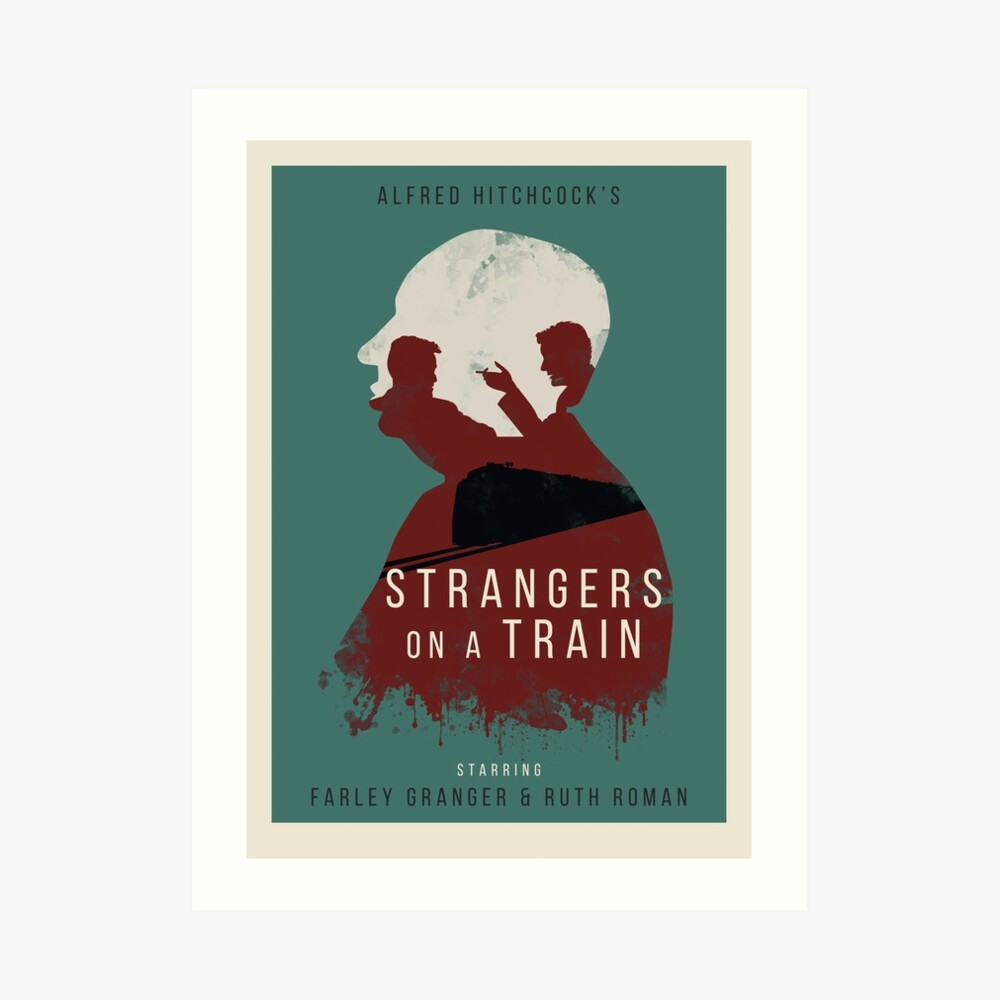 Alfred Hitchcock Strangers on a Train Art Print