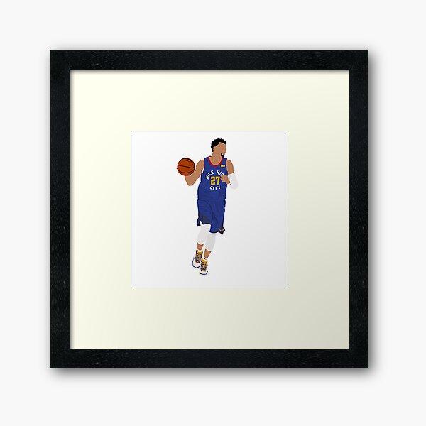Jamal Murray - Mile High City Uniform  Framed Art Print