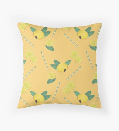 lemonade_yellow Throw Pillow