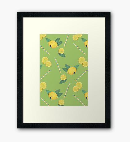 lemonade_green Framed Print