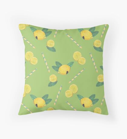 lemonade_green Throw Pillow