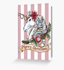 Tarjeta de felicitación Unicornio de navidad