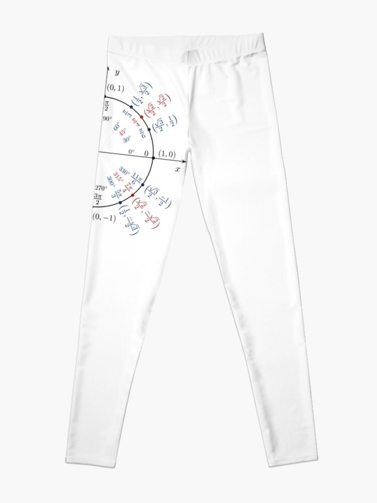 Alternate view of   #UnitCircle, #Circle, #Trigonometry, #Sine, Trigonometric Functions, Cartesian Coordinate, System, Mathematics Leggings