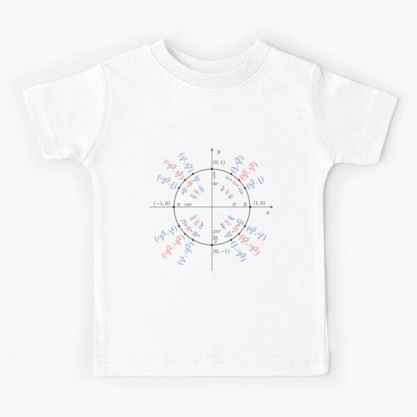 #UnitCircle, #Circle, #Trigonometry, #Sine, Trigonometric Functions, Cartesian Coordinate, System, Mathematics Kids T-Shirt