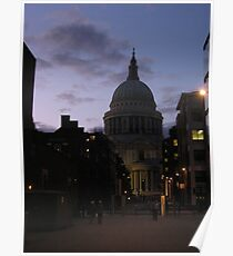 St. Paul's Cathedral at Dusk Poster