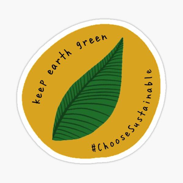 Keep Earth Green Sticker