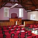 Pulpit and seating in Beauly Free Church of Scotland by Teuchter