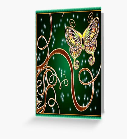 Enchanted Butterfly Jewel Greeting Card