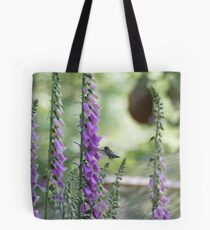 Hummingbird Foxglove Feast Tote Bag