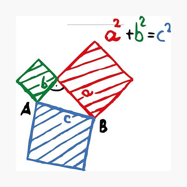 #Pythagorean #Theorem #Formula, #Mathematics, Equation, Imaginary, Complex Number, Mathematician, Trigonometric, Functions Photographic Print