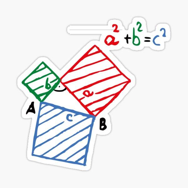#Pythagorean #Theorem #Formula, #Mathematics, Equation, Imaginary, Complex Number, Mathematician, Trigonometric, Functions Sticker