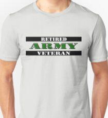 Retired Army Veteran Unisex T-Shirt