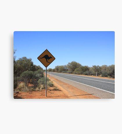 Kangaroos Crossing Canvas Print