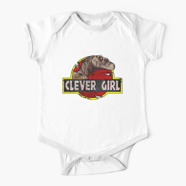 Clever Girl Short Sleeve Baby One-Piece