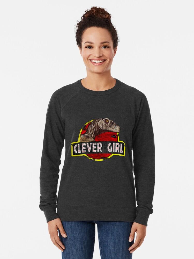 Alternate view of Clever Girl Lightweight Sweatshirt