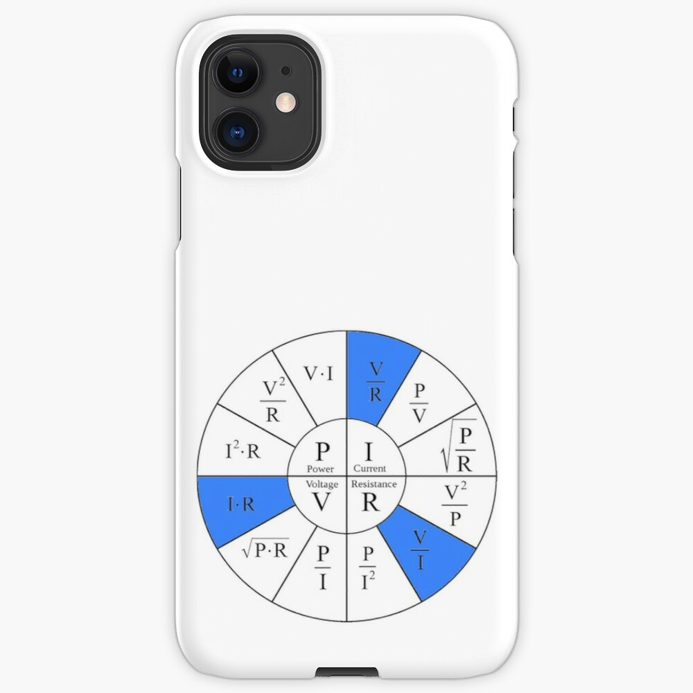 Ohm, Electric Current, Electricity, Electrical Resistance, Conductance, Electrician, Ampere, Electrical Network: iPhone Case & Cover