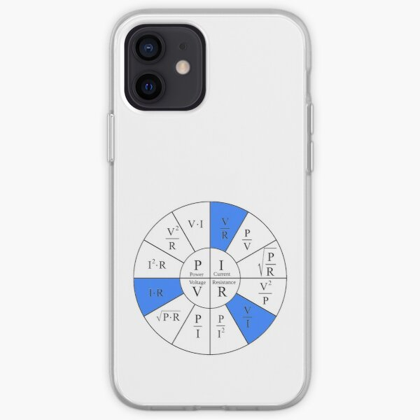 Ohm, Electric Current, Electricity, Electrical Resistance, Conductance, Electrician, Ampere, Electrical Network iPhone Soft Case