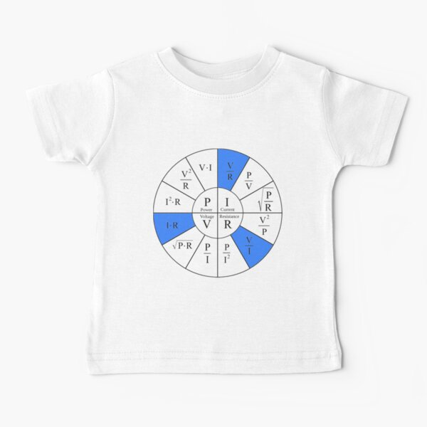 Ohm, Electric Current, Electricity, Electrical Resistance, Conductance, Electrician, Ampere, Electrical Network Baby T-Shirt